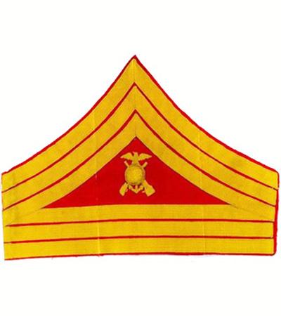 khaki First Sergeant USMC Marine Corps Rank Chevron single